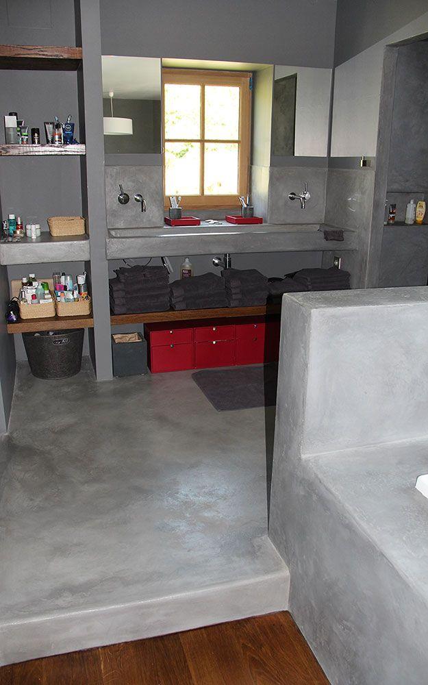 17 meilleures id es propos de salle de bain en b ton sur for Resine beton cire salle de bain