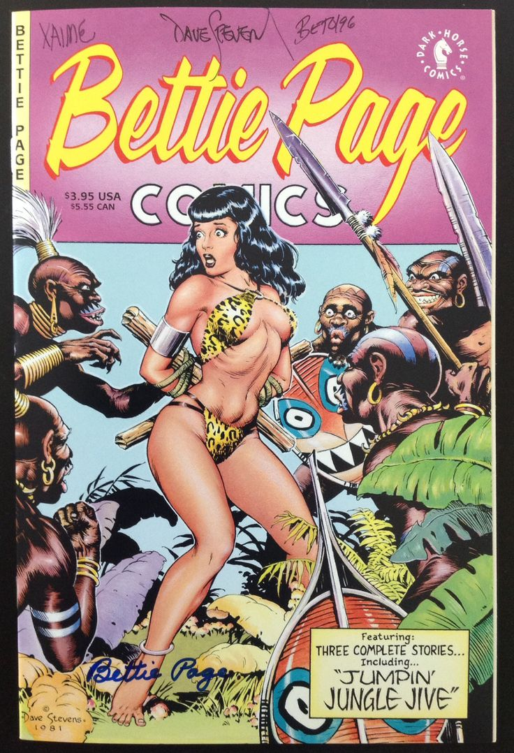 Dave Stevens Bettie page comic | My signed comics | Pinterest | Comic and Bettie page