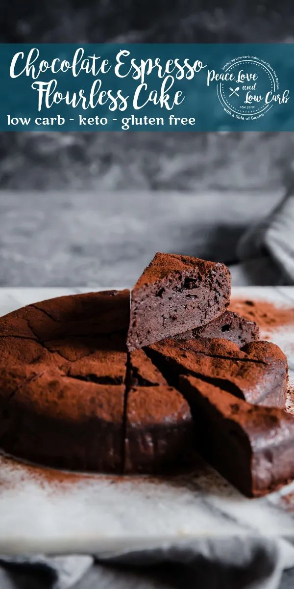 Keto Chocolate Espresso Flourless Cake