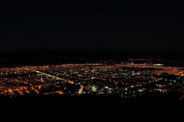 Valle del Aconcagua mirada desde una de sus cumbres.......   La  Ciudad de San Felipe