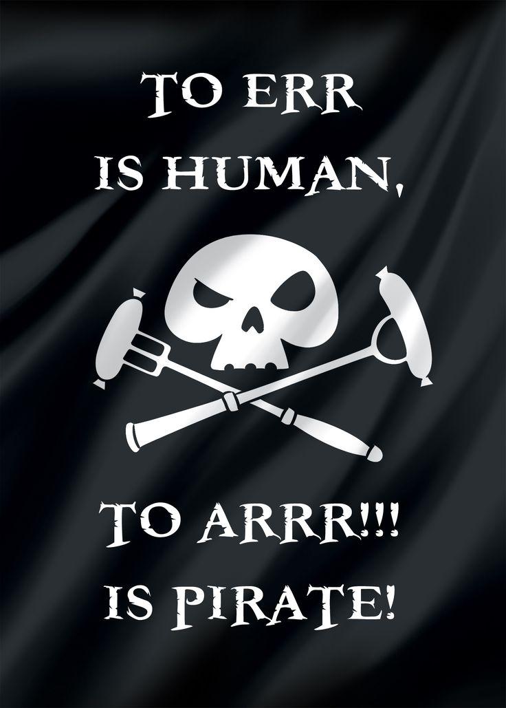 Errrare è umano... ma non piratesco. ARRR!!!