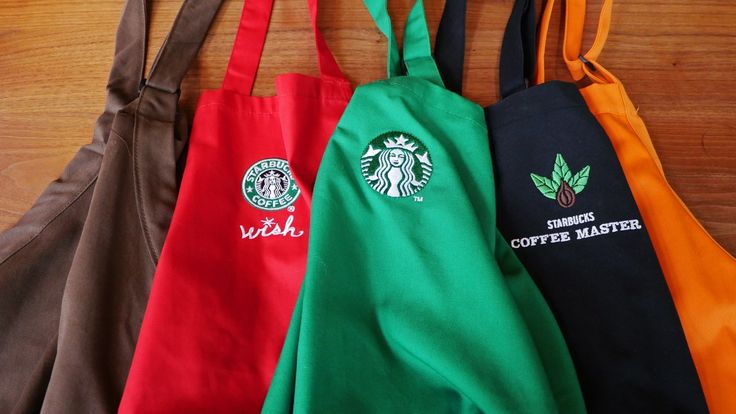 Starbucks Apron Colours Have Mystery Meanings - http://howto.hifow.com/starbucks-apron-colours-have-mystery-meanings/
