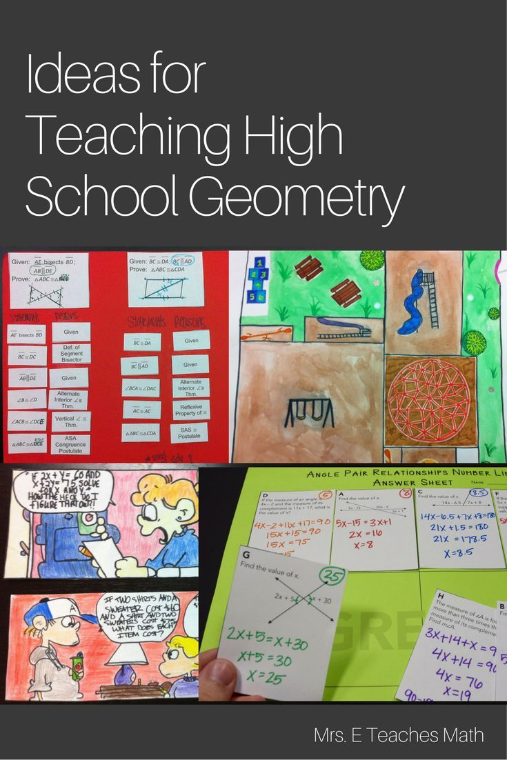 Lots of free ideas for teaching high school geometry