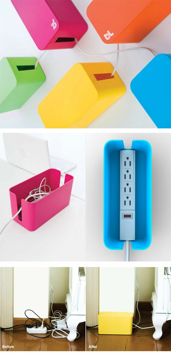 CableBox Mini by BlueLounge.... Good blueprint for a DIY
