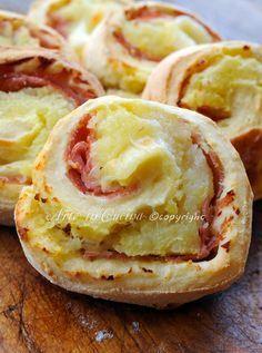 Girelle di patate farcite in crosta stuzzichino vickyart arte in cucina