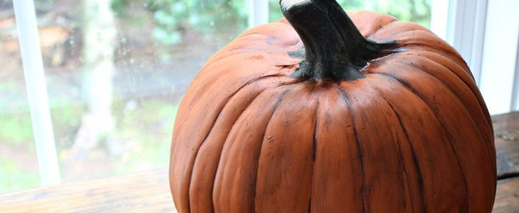 A Clever Hack For Making Plastic Pumpkins Look Real
