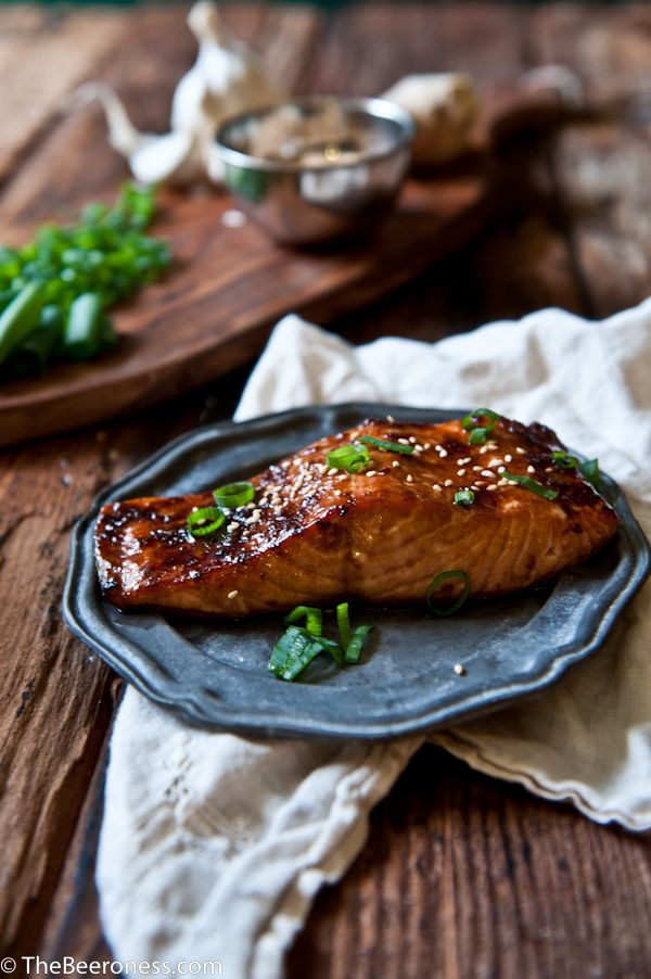 Porter Ginger Glazed Salmon. 20 minutes and SO good! #salmon #recipe #quick #easy #asian    I have this bizarre ability to have strangers confess dar
