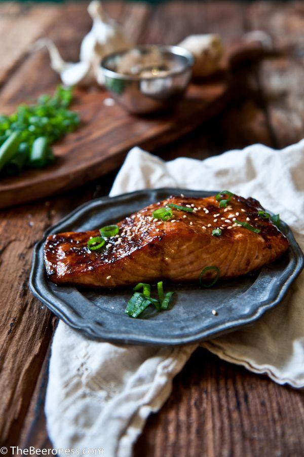 Porter Ginger Glazed Salmon. 20 minutes and SO good!