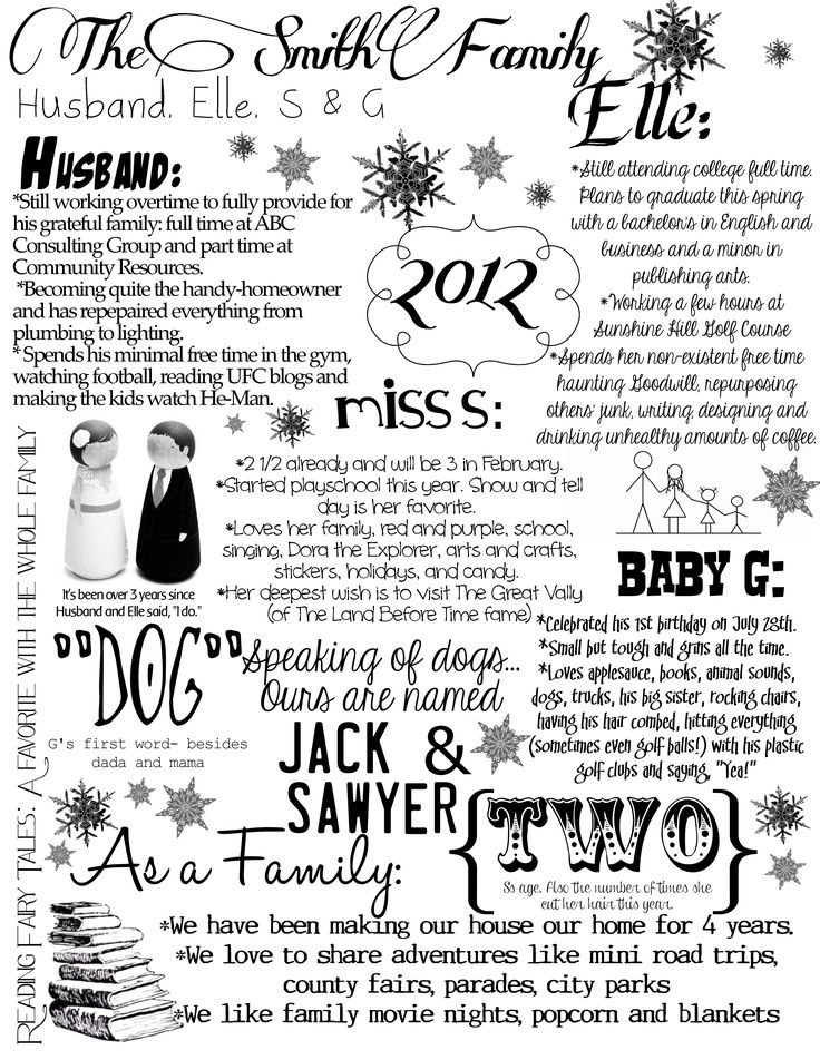 46 best annual christmas letter images on pinterest christmas christmas family letter spiritdancerdesigns Images