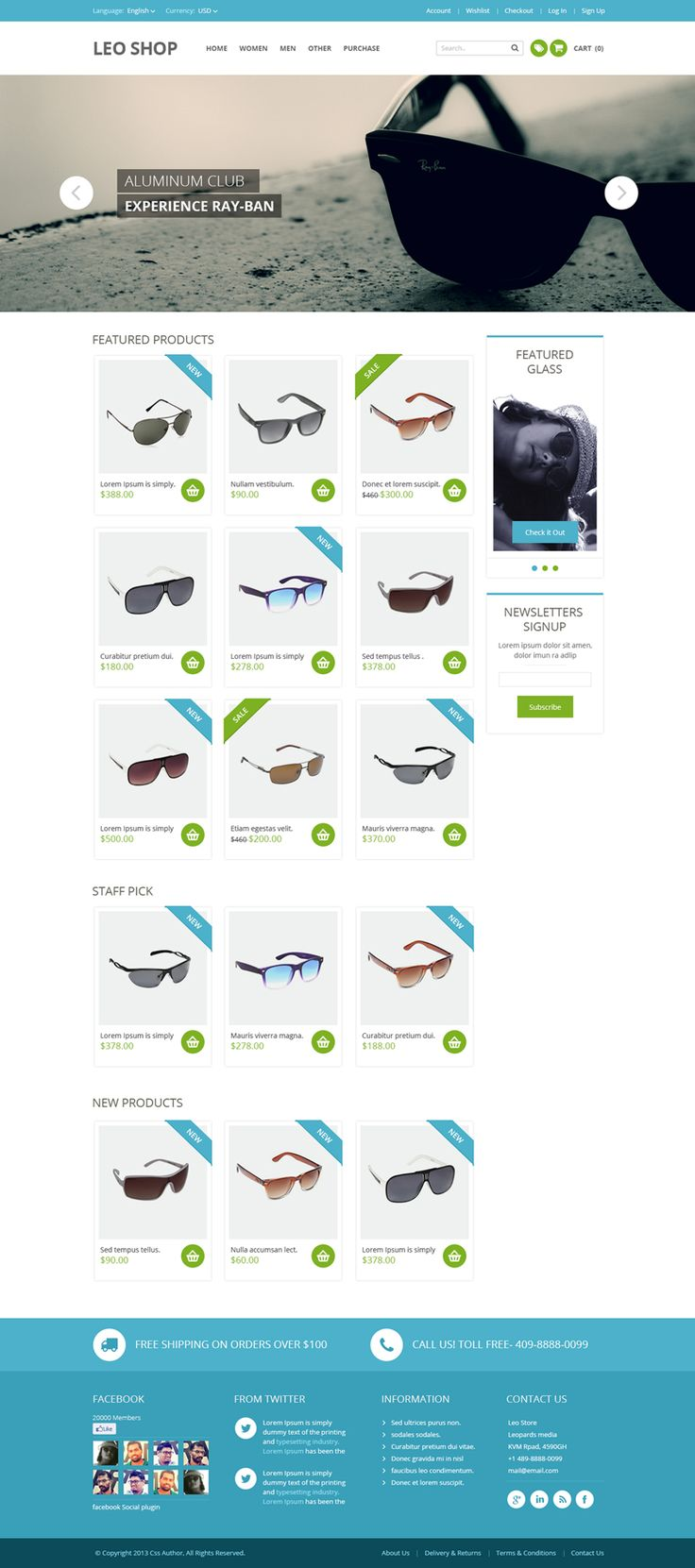 A Premium Quality Free Online Shop Website Template PSD – Freebie No:127