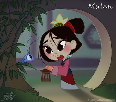 50 Chibis Disney : Mulan by David Gilson
