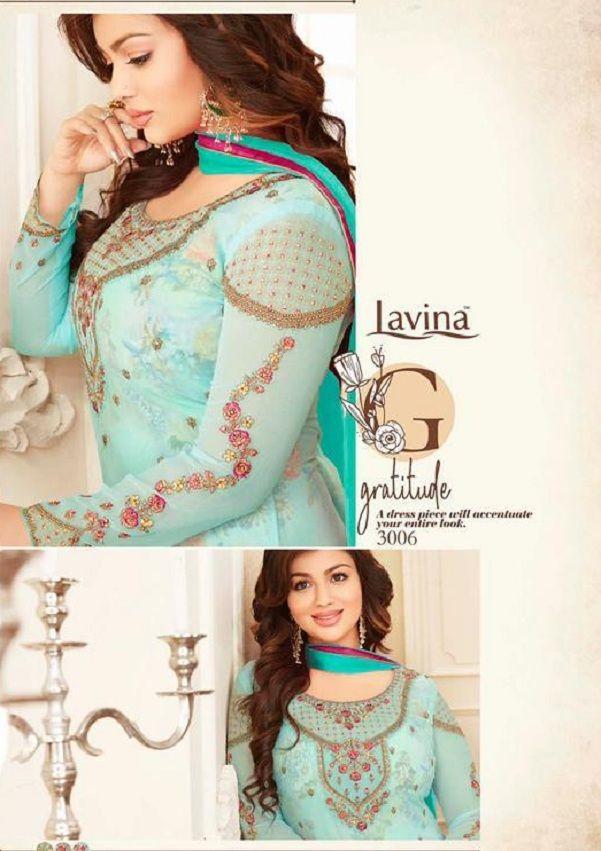 f279d4f9ec Buy lavina Nx3 Georgette Embroidery Salwar Suits 3006 | DESIGNER ...