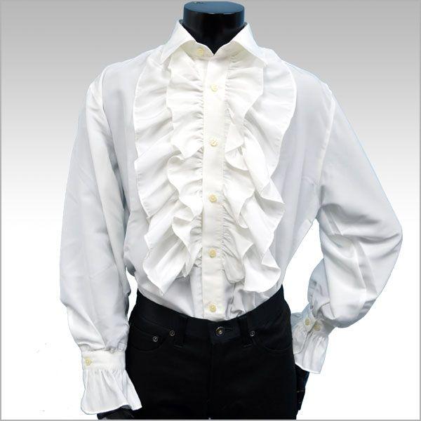 【楽天市場】【メンズ フリルシャツ】長袖シャツ パーティー ステージ ダンス 白 ホワイト フリル ブラウス 白【あす楽対応】[ 05P03Dec16 ]:FTS-FLASH
