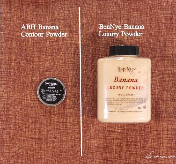 ABH Banana Contour Powder vs. BenNye Banana Powder #makeup