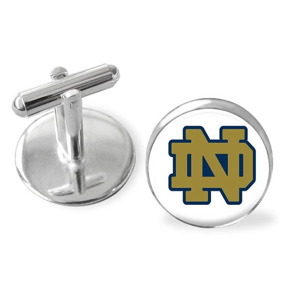 Notre Dame theme cuff links, college cufflinks, Fighting Irish cufflinks, Notre Dame accessories,father of the bride, groomsman, usher gift #NotreDame #UsherGifts #CuffLinks #groomsmen #CollegeGraduation #NotreDameAlumni #leprechaun #CollegeFootball #FightingIrish #CollegeCufflinks
