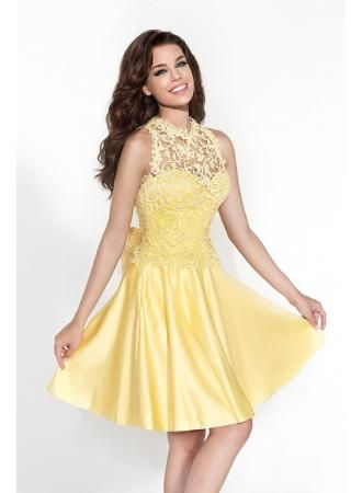 USD$129.00 - Lovely Sleeveless Detachable Short Cocktail Dress With Lace Bowknot - www.27dress.com