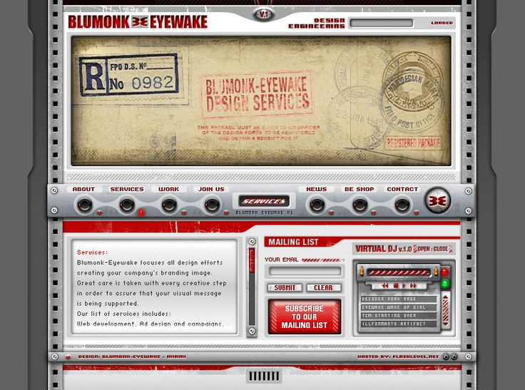 Blumonk Eyewake website in 2002