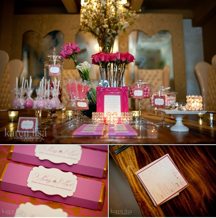 "54 best ""Pretty in Pink"" Baby Shower Theme images on"