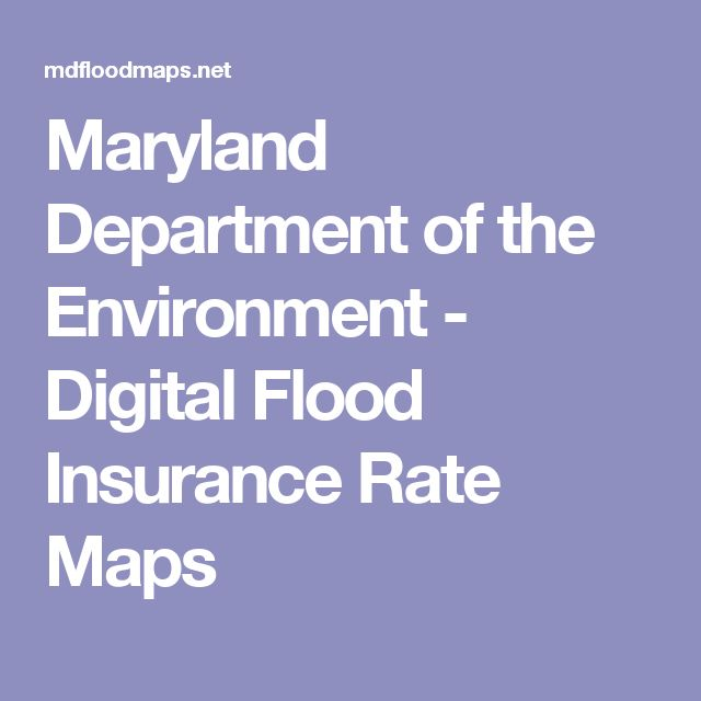 Maryland Department of the Environment - Digital Flood Insurance Rate Maps