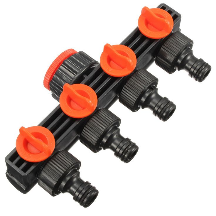 High Quality New Home Garden Hose Pipe Splitter Plastic Drip Irrigation Water Connector Agricultural 4 Way Tap Connectors