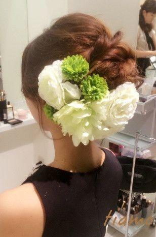 ドレスから和装へチェンジ!ルーズな4スタイル♡リハ篇 の画像 大人可愛いブライダルヘアメイク『tiamo』の結婚カタログ