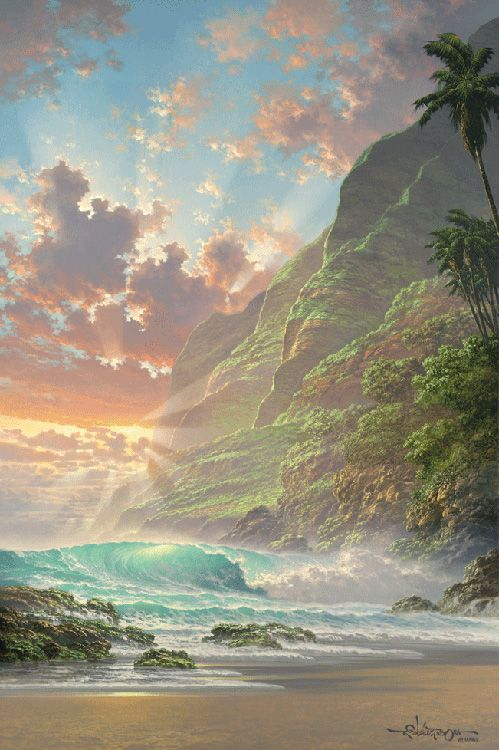 hawaiian artists paintings | Hawaii Paintings by Roy Gonzalez Tabora - AmO Images - AmO Images