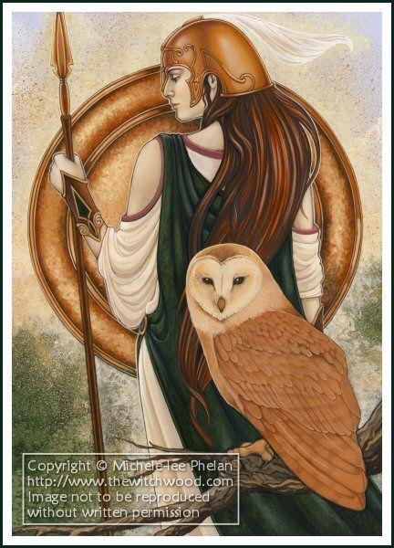Athena - GMO Card 12 by Michele lee Phelan #goddess #art