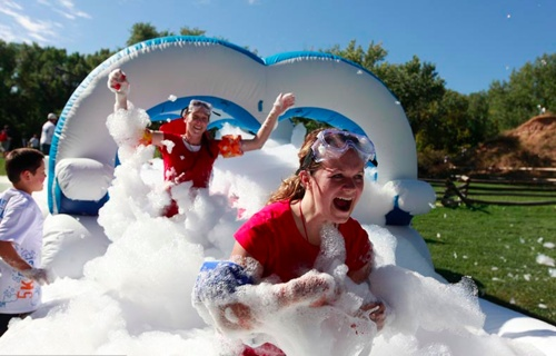 5K Foam Fest...Looks like like the Warrior Dash only with foam instead of mud, and it looks like a blast! Seattle June 16th this year.