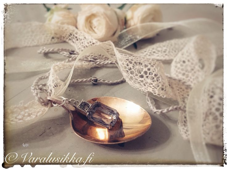 Hand made spoon necklace made from vintage silver plated spoon. www.varalusikka.f