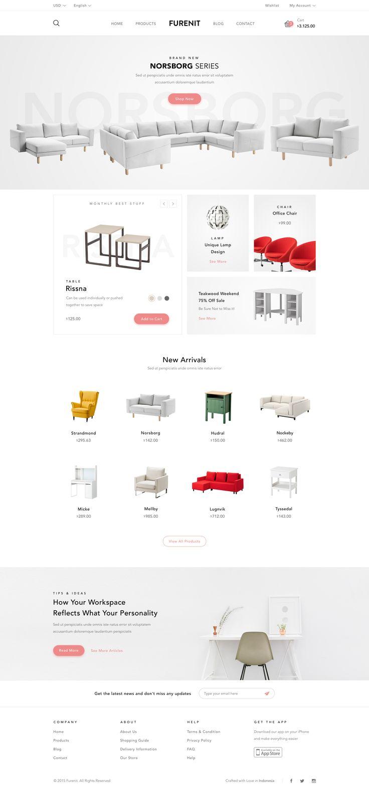 Furniture Shop - Website by Afrian Hanafi | dribbble