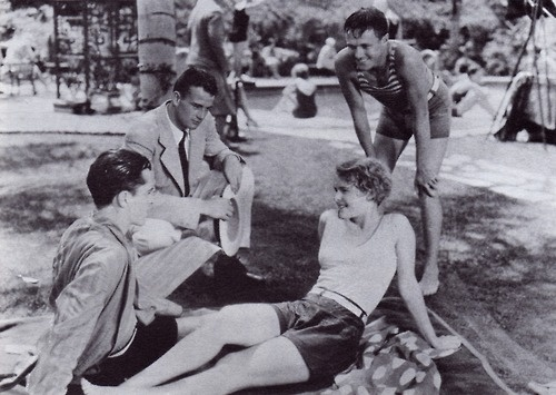 Words and Music, 1929. The first film in which Marion Morrison got billed, and billed as Duke Morrison. It's a musical starring Lois Moran and David Percy (left in the picture). The film is believed to be lost.
