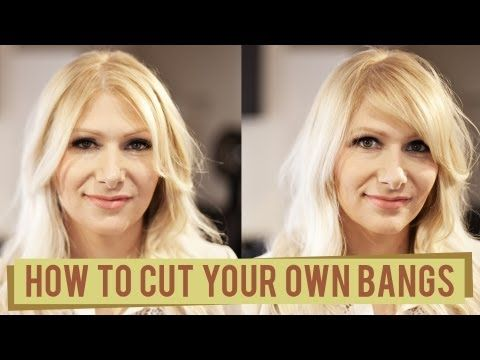 2 Ways to Cut your Own Bangs This is an awesome tutorial, especially if you're like me and you go waaaaay too long between haircuts.