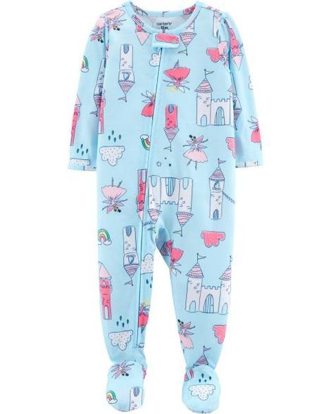 f74b38301 1-Piece Castle Footed Poly PJs