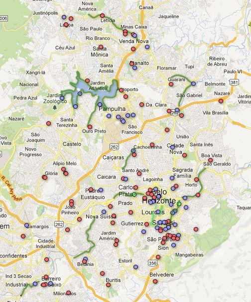 Em Belo Horizonte, o grupo Mountain Bike BH mapeou as rotas para bicicletas da cidade. O mapa foi disponibilizado na página do coletivo, com uma representação gráfica dos melhores trajetos e vias para as bikes.