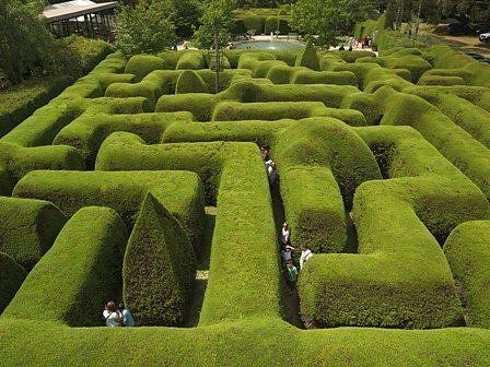 Ashcombe Maze pictured here is found on Australia's Mornington Peninsula, near Melbourne. It's Australia's largest and oldest maze and measures three meters high by two meters wide.