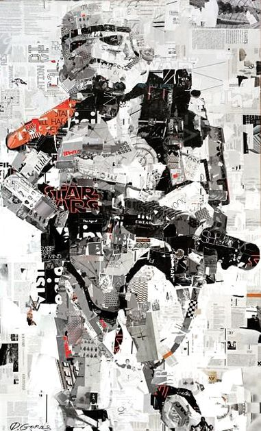 Empire State of Mind - Collage Artwork: Collage Art by Derek Gores