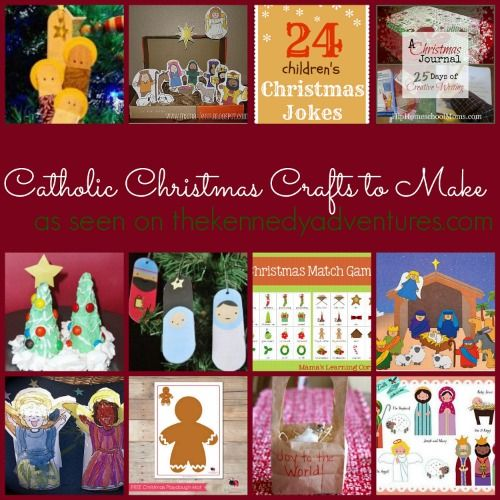 Catholic Christmas Crafts to Make - features printables as well as craft and activity ideas