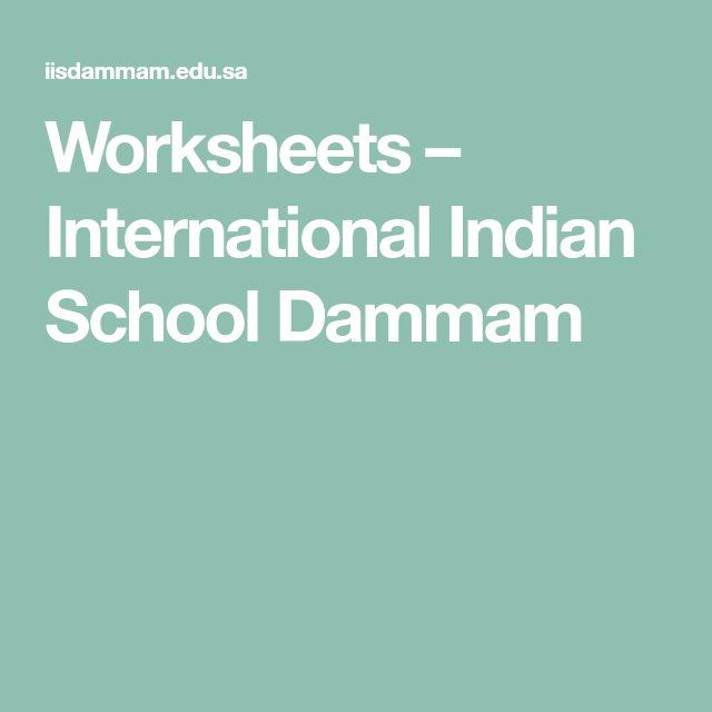 Worksheets International Indian School Dammam Dammam Worksheets School