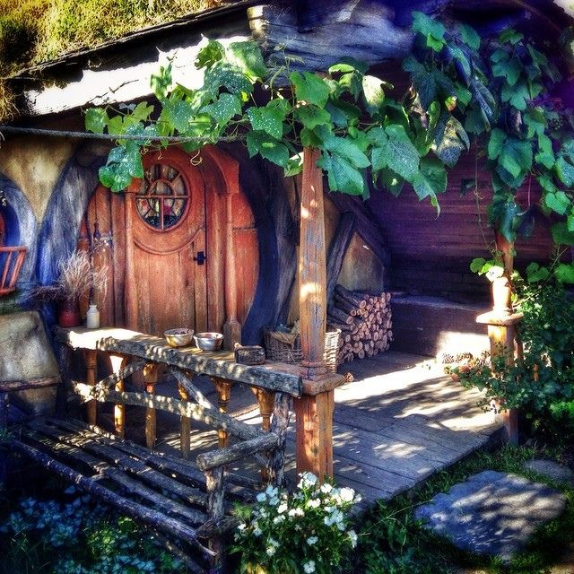 All hobbit holes should have porches. by Yes to Adventure on Flickr.
