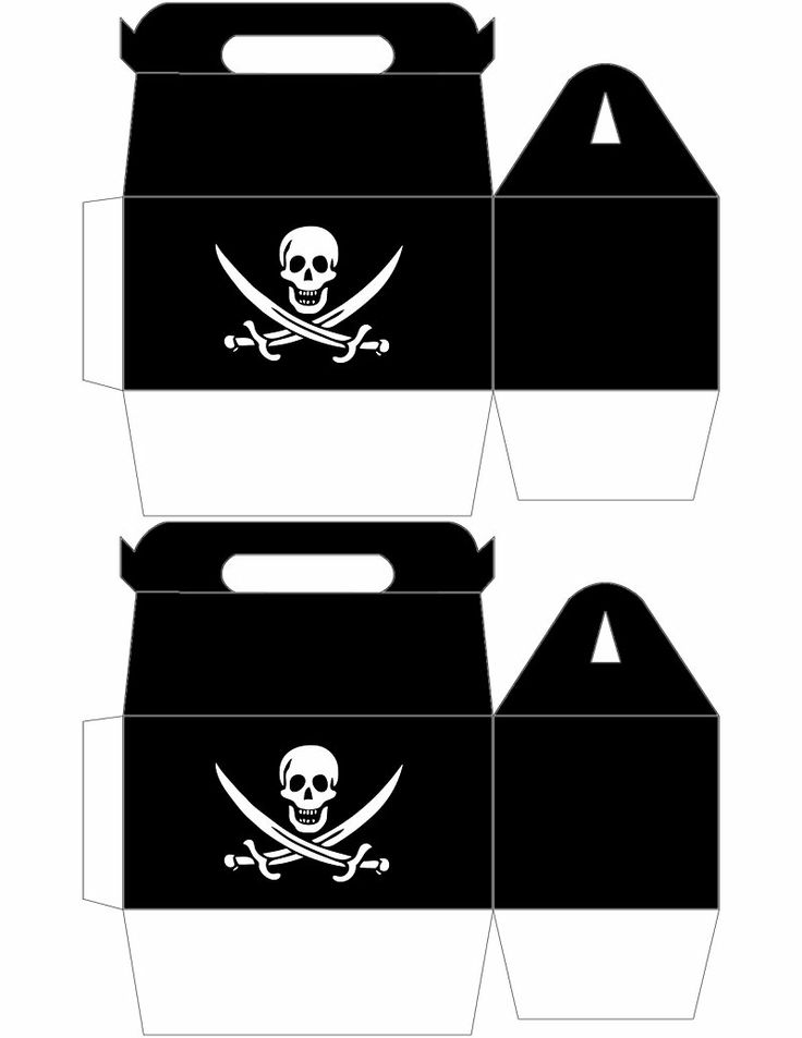 Printable Pirate Box - Better print in black cardboard and put a sticker on it. JPG saved. X
