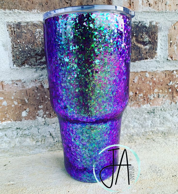Check Out This Purple And Teal Color Changing Glitter