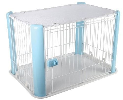 Portable Dog Cage Pet Kennel Blue Cat Playpen Indoor