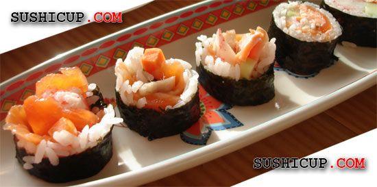 sushi fried salmon