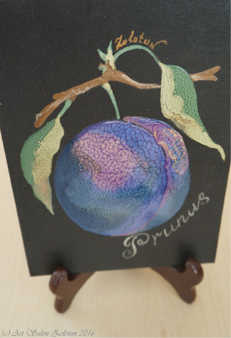 "Artwork ""Prunus"", decorative plum, carton canvas by Zolotun on Etsy"
