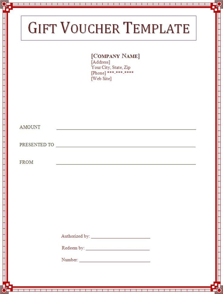 1000 images about Gift voucher – Template for a Voucher
