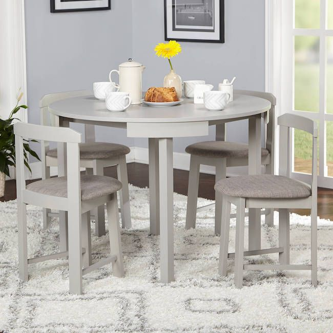 Table Set Kitchen Round Small Pub Bistro Sets Wood Wooden Dining Room Poker in Home & Garden, Furniture, Dining Sets | eBay