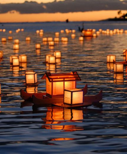 Drijvende lantaarns