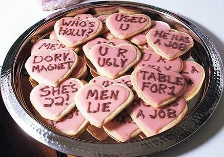 Anti-Valentines Day-Cookies haha i should do these some time