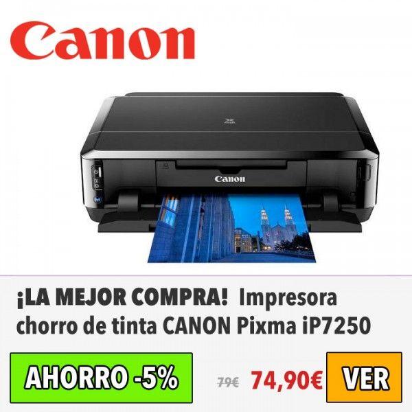 Impresora chorro de tinta CANON Pixma iP7250. #ofertas #descuentos