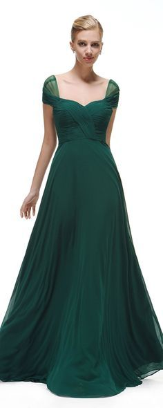 Forest green bridesmaid dresses long cap sleeves bridesmaid styles formal gowns for wedding